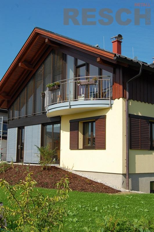 edelstahl und aluminium balkone und gel nder resch. Black Bedroom Furniture Sets. Home Design Ideas