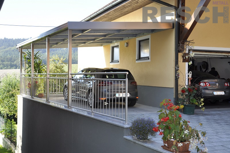 carport aus edelstahl stahl und aluminium resch metall design. Black Bedroom Furniture Sets. Home Design Ideas